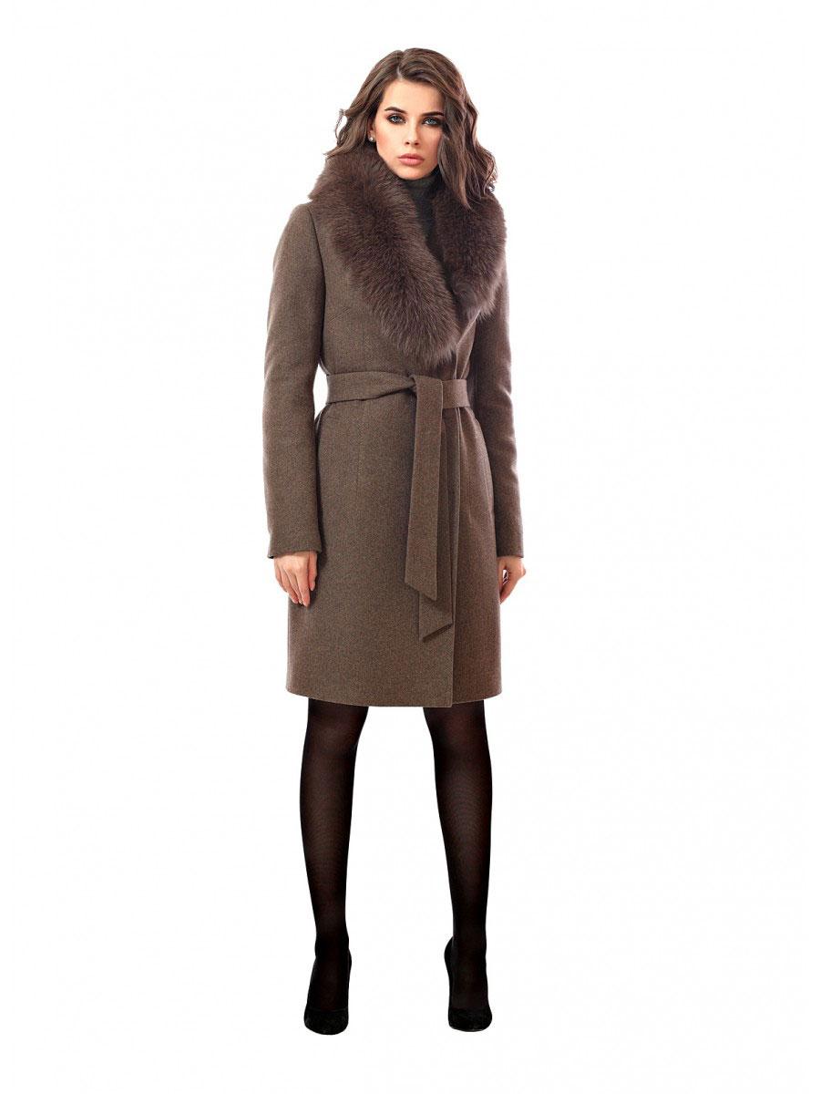 Зимнее женское пальто 2443ПЗ WT8 - купить одежду оптом в Москве e1225f15b11